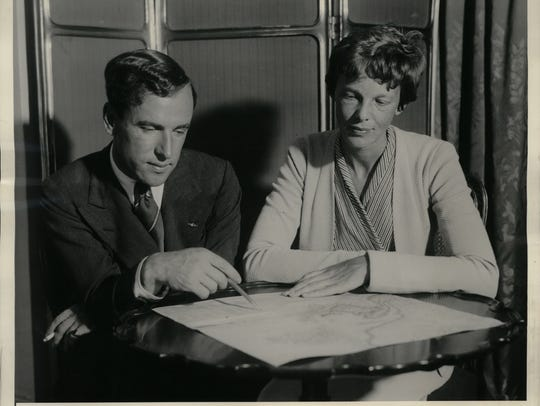 Amelia Earhart, at the time the only woman to make