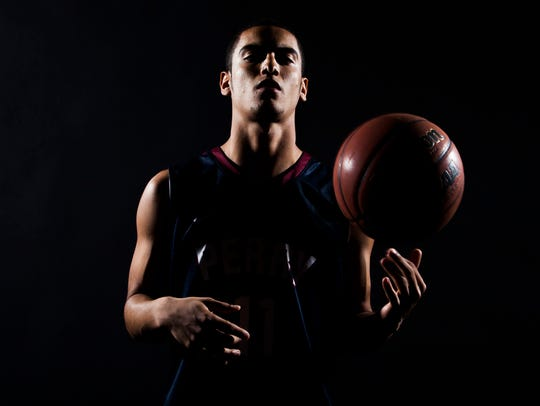 Gilbert Perry's Markus Howard poses for a photo in