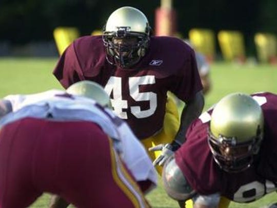 Sonnier (45) led ULM in tackles in 2001 and 2003 and