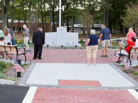 There are 250 pavers that pay tribute to veterans at