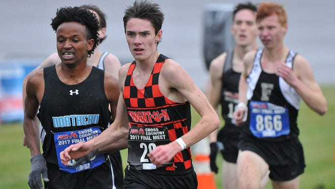 Brighton's Zachary Stewart, who was 15th in the state Division 1 cross country meet, ran 15:41 this season for the fastest time in Livingston County.