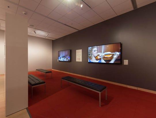 This display, part of MIM's Stradivarius exhibit, features