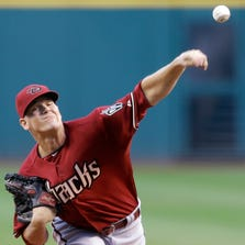 Arizona Diamondbacks starting pitcher Andrew Chafin delivers in the first inning of the secondgame of a doubleheader against the Cleveland Indians on Wednesday, Aug. 13, 2014, in Cleveland.