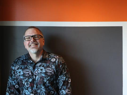 """Tallahassee novelist Jeff VanderMeer sports the same shirt he wore to the red-carpet premiere of """"Annihilation"""" in Hollywood. He said the shirt's pattern was similar to The Shimmering special effect in the movie, which is based on his best-seller."""