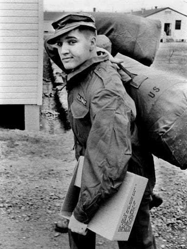 Elvis Presley was outfitted with all of his military