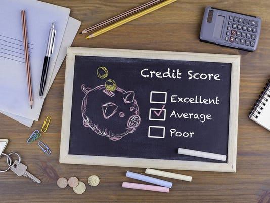 Average Credit Score concept