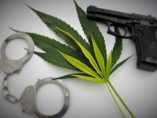 Marijuana ganja crime topic concept