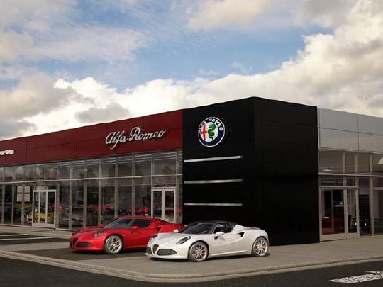 A rendering of the Alfa Romeo Fiat dealership that