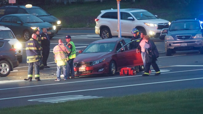Police responded to a crash in Neptune Township about 8 p.m.