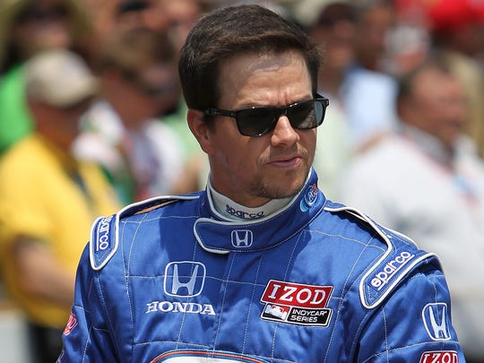 Mark Wahlberg rode in a two-seat car before the 2010 Indianapolis 500.