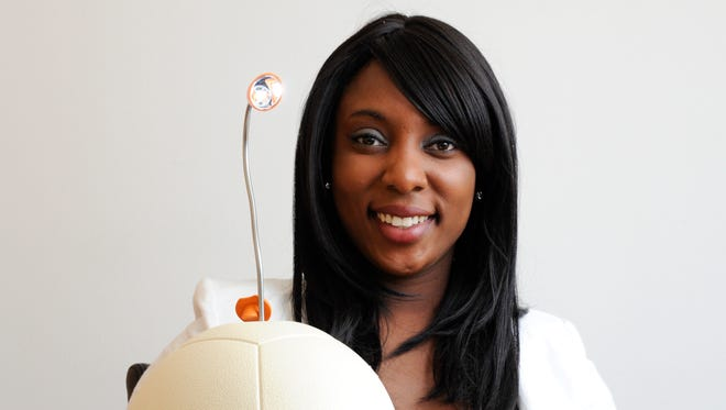 Jessica O. Matthews,  Co-Founder and CEO of Uncharted Play which makes Soccket, a soccer ball that  generates electricity.