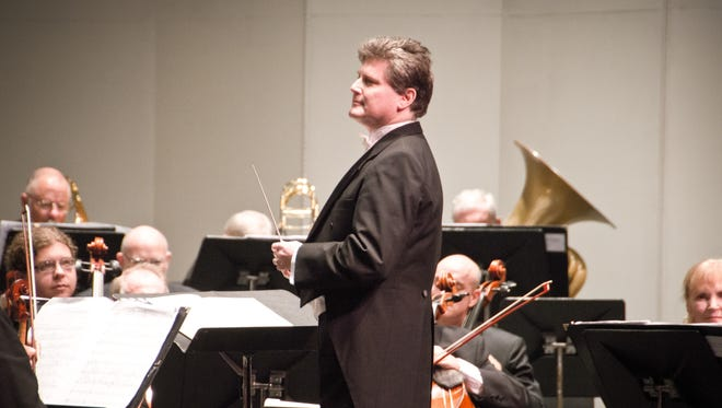 Andrew Kurtz and Gulf Coast Symphony. Kurtz is founder, music director and executive director of the Fort Myers-based community orchestra.
