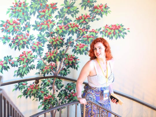 Mini Supreme producer Alexa Fraser-Herron is photographed at the Palm Springs International ShortFest, during the Opening Night: Make 'Em Laugh program at the Camelot Theatres in Palm Springs on Tuesday.