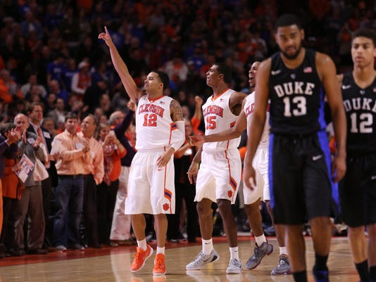 NCAA Basketball: Duke at Clemson