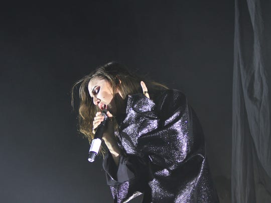 Lykke Li performs during the Coachella Music and Arts Festival in Indio on Friday.