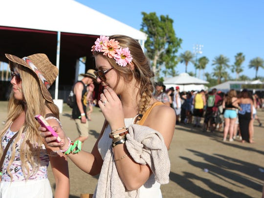 Scenes during the Coachella Music and Arts Festival in Indio on Saturday, April 18, 2015.