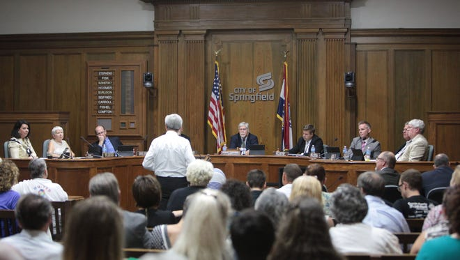 City Council listens to public comment on whether council should vote to expand the city's nondiscrimination ordinance on Monday, September 8, 2014.