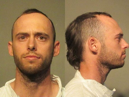 Blake Brown allegedly stabbed his father Bruce Brown