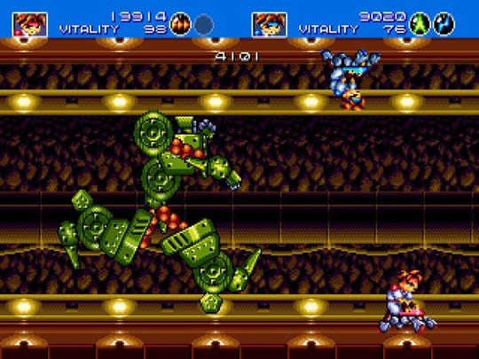"""Crazy bosses are the norm in 16-bit classic run-and-gun shooter in 3D with """"3D Gunstar Heroes"""" for the 3DS."""