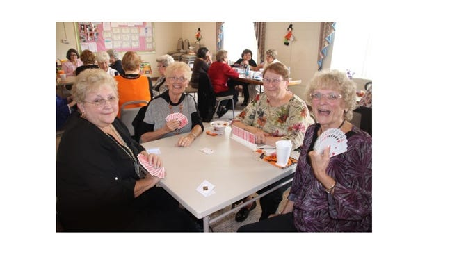(From left) Deanna Phifer, Hattie Ayres, Kathy Bennett and Carole Sahms enjoy a game of cards during a game day at the Millville Woman's Club on Oct. 29. Members and guests enjoyed a tasty lunch, conversations and a variety of games including Mahjong, Bridge, Pinochle, Rummy, Scrabble and Bananagrams. For club information, call Pam Mc Namee, club president, at (856) 293-1805.