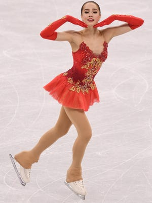 Gold medal winner Alina Zagitova of the Olympic Athletes from Russia.