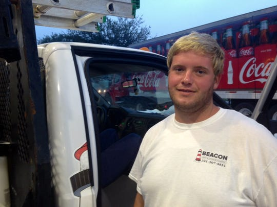 Melbourne resident Thomas Patton, a roofer with Beacon Roofing & Exterior Cleaning, says, with regular unleaded gas prices at about $2 a gallon for regular unleaded, he wouldn't mind paying a little more in gas taxes to help pay for road repairs.