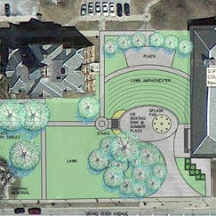 Plans are in the works to put an ice rink and splash pad next to the historic Livingston County Courthouse in Howell.