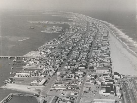 Ariel view of 1970s Ocean City — Courtesy of The Ocean