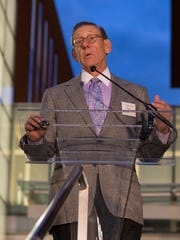 Stephen Ross in October 2016 at the University of Michigan