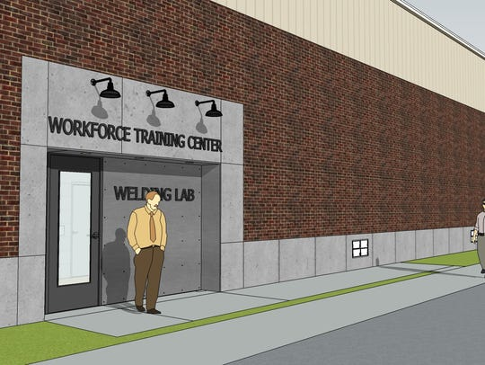 Artist rendering of the new OTC Workforce Training