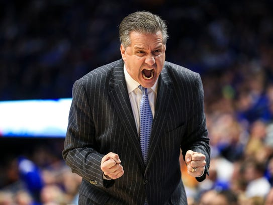 Kentucky's John Calipari shouted 'Oh My God!'  in the
