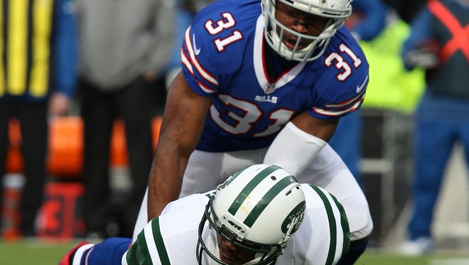 S Jairus Byrd and the Bills forced Jets QB Geno Smith into four turnovers Sunday.