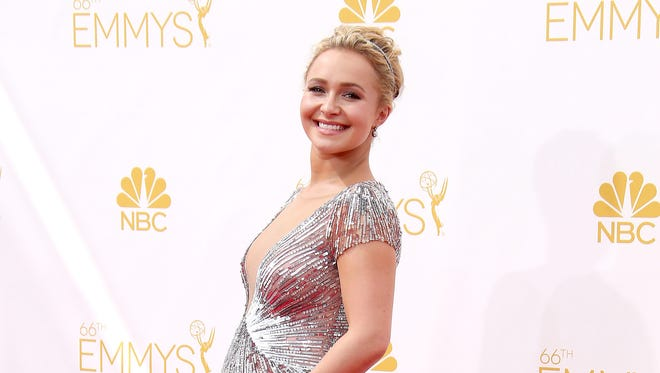 Hayden Panettiere arrives at the 2014 Emmy Awards.