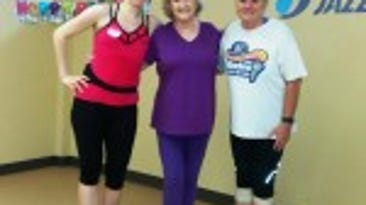 Instructor Grisel Cremones with Jo Frye and Shirley Franz, who.  both had 'Wrist Management issues'