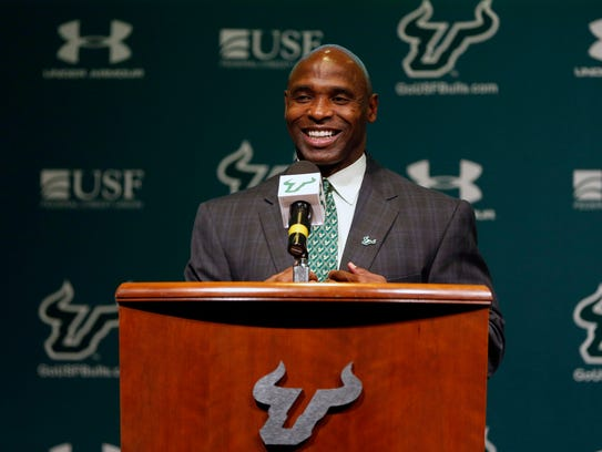 Charlie Strong takes over as head coach at South Florida.