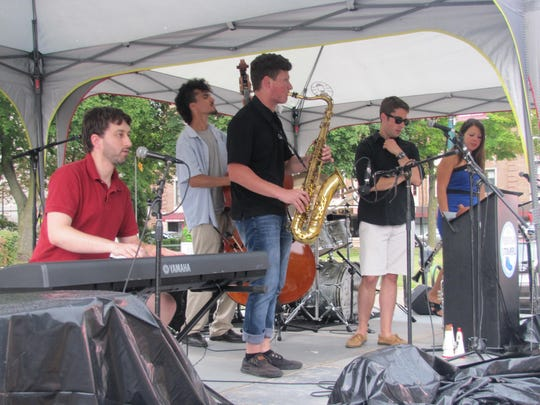 The Fredtown Stompers of Buffalo were a new group and the youngest group to perform Saturday during the 10th annual Twin Tiers Michelob Jazz Festival in downtown Elmira