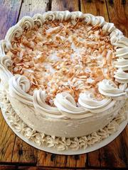 An organic gluten free soy free carrot cake at Ocean Organics.