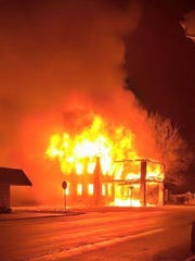 Fire engulfs the former Caylor-Nickel Hospital in Pennville