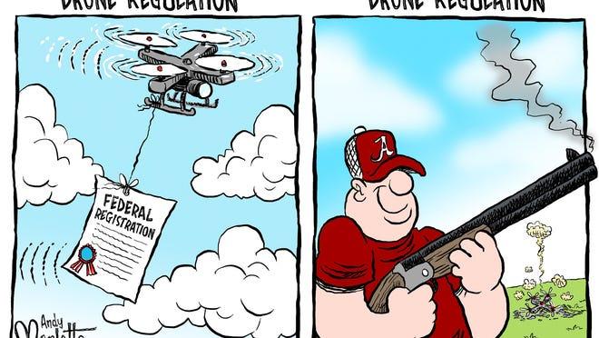 Drone Editorial Cartoon