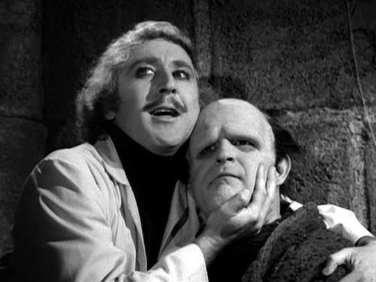 "The late Gene Wilder and Peter Boyle star in the 1974 Mel Brooks musical comedy, ""Young Frankenstein."" Center for the Arts presents the stage adaptation Oct. 14-30, and shows are being dedicated to Wilder, who died Aug. 29, 2016."