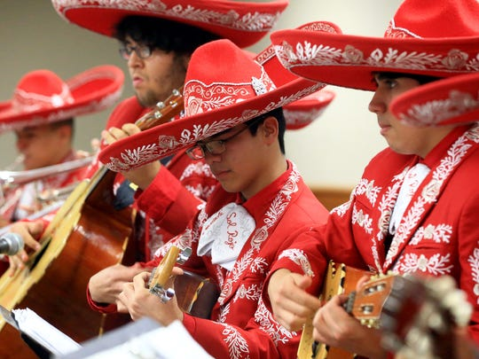 The Robstown High School Mariachi performs during the