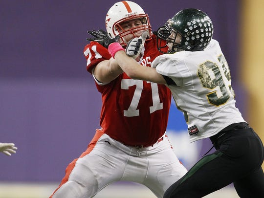 Ross Pierschbacher, OL, Cedar Falls: A three-time all-state pick in 2011-13. Pierschbacher was the state's No. 1 recruiting prospect as a senior. He was also named a Parade Magazine All-American, a second-team All-American by MaxPreps and was chosen to play in the Under Armour All-America Game. He was a consensus four-star prospect and was tabbed as the nation's No. 3 offensive guard prospect by ESPN.