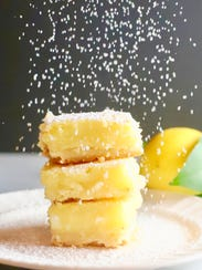 Luscious Southern Meyer Lemon Bars are topped with