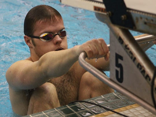 Groves senior Robbie Hagner enters the state meet with the tenth-best Division 2 100-backstroke time.