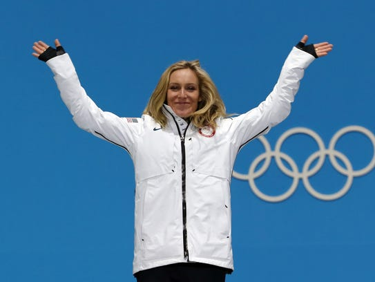Jamie Anderson won silver in the women's big air snowboarding.