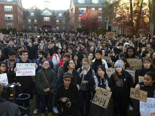 Trump Campus Protests Rhode Island