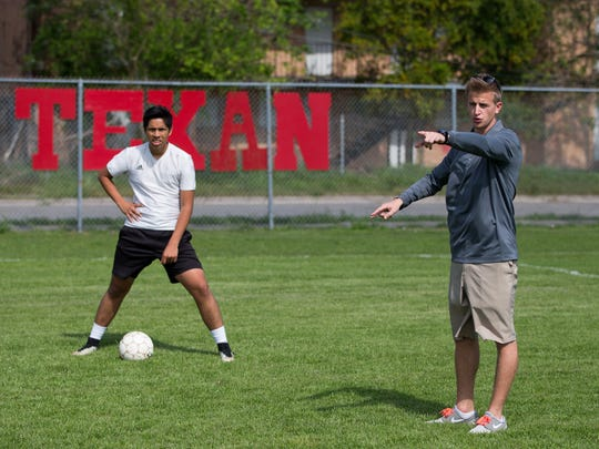 Ray boys soccer coach Ben Bishop and the Texans are looking at a return to the postseason in 30-5A this season.