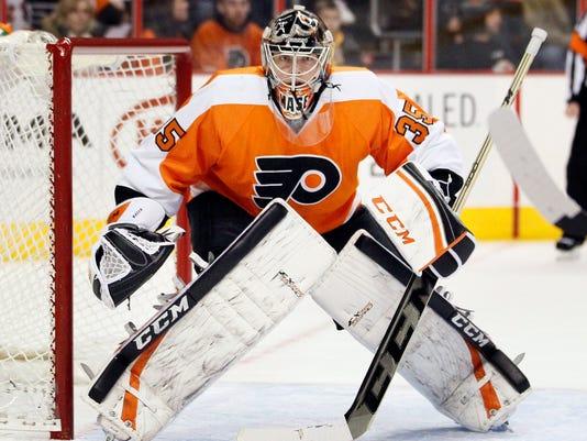 Flyers goalie Steve Mason 2014