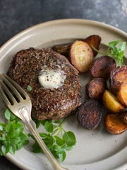 Buttered black pepper bison steaks. The widely available alternative to beef is naturally lean and deeply flavorful.