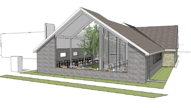 Artist rendering of the Germantown Craft House.